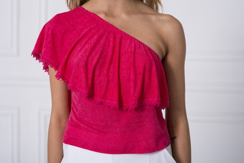 Top Irka fucsia