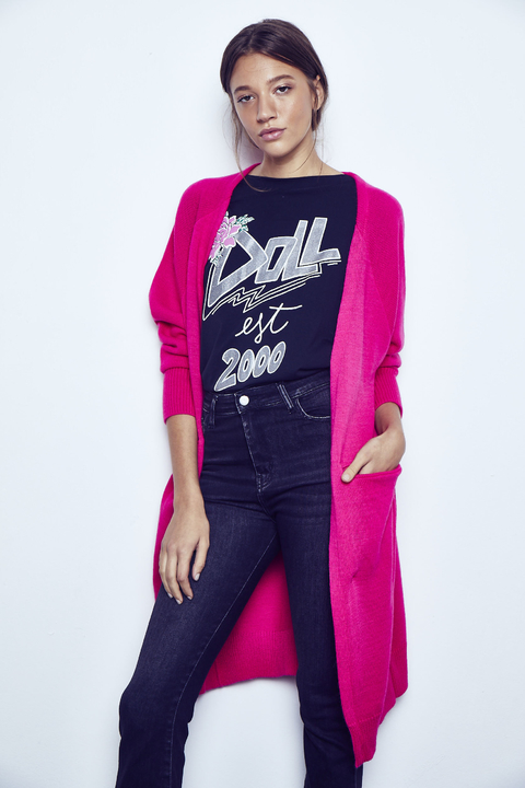 Cardigan Homeless fucsia