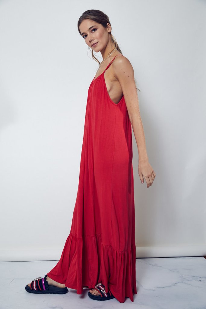 Maxivestido Jungle rojo