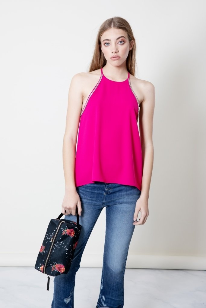 Top Bling fucsia