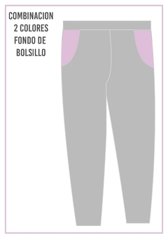 Pantalon con fondo de bolsillo de color