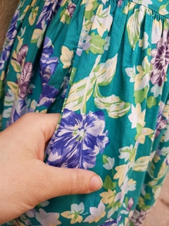 Vestido flores Laura Ashley 80s