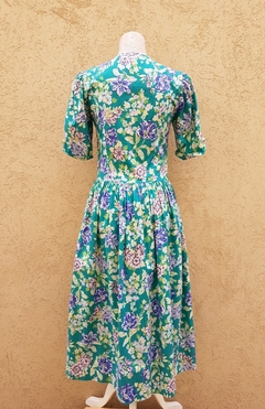 Vestido flores Laura Ashley 80s - comprar online