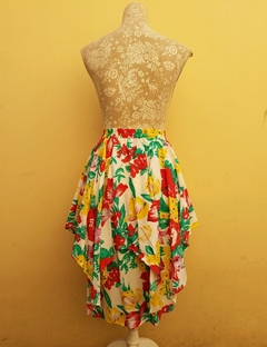Falda tropical 80s