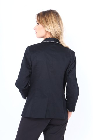 BLAZER COTTON CUELLO SMOKING CON GALON en internet