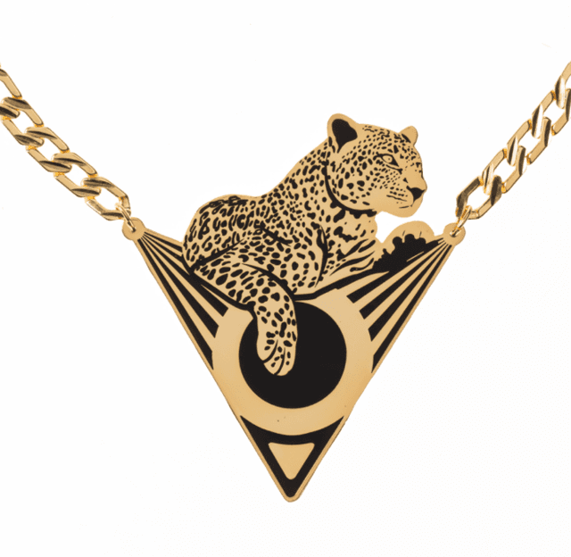 Collar leopardo deco