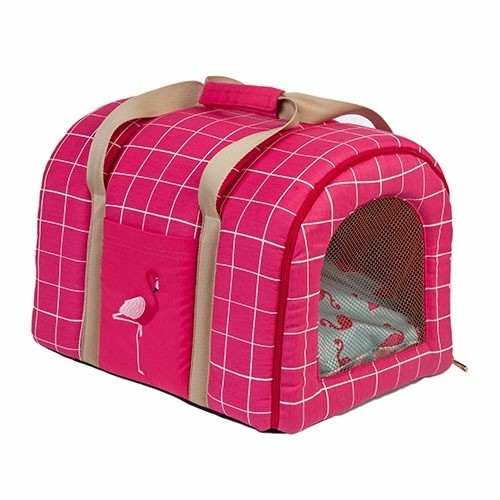 BOLSA DE TRANSPORTE WOOF CLASSIC - SUMMER PARTY FLAMINGO - comprar online