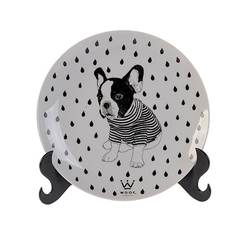 PRATO DECORATIVO WOOF PET - PUG