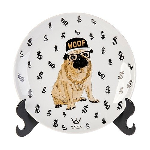 PRATO DECORATIVO WOOF PET - BULLDOG