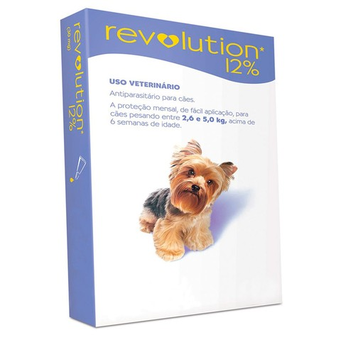 REVOLUTION ANTI PULGAS E CARRAPATOS CÃES 2,6 a 5,0kg