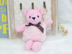 Chaveiro Joy Pet Design Urso Pom Pom - Rosa