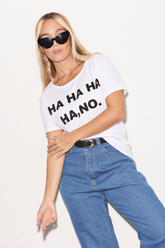 "Remera Algodón Estampada ""Ha ha, no"""
