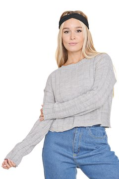 Sweater Estilo Crop Top