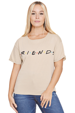 "Remera Algodon Estampa Logo ""Friends"" - Shaina Trendy Store"