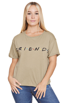 "Remera Algodon Estampa Logo ""Friends"" en internet"