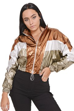 Campera Metalizada Regulable - Shaina Trendy Store