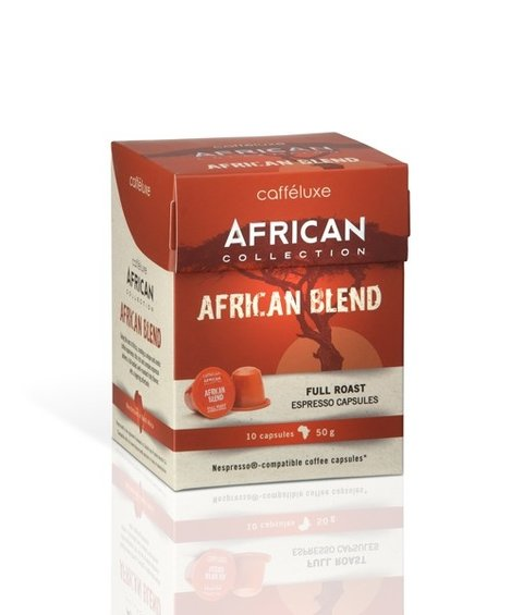 Cápsulas African Blend Coffee - Pct c/ 10 unid (Padrao Nespresso)