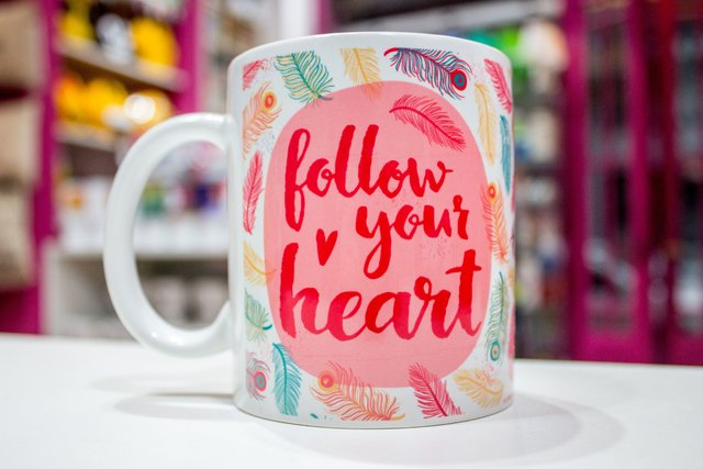 Tazas de Ceramica Follow your Heart - comprar online