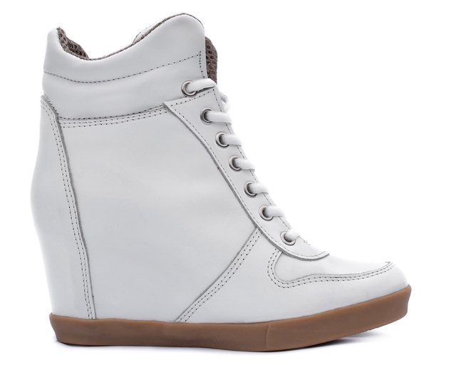 49a39848f9aeb Zapatillas Taco Escondido Acordonadas All Leather Art.682 Blanco