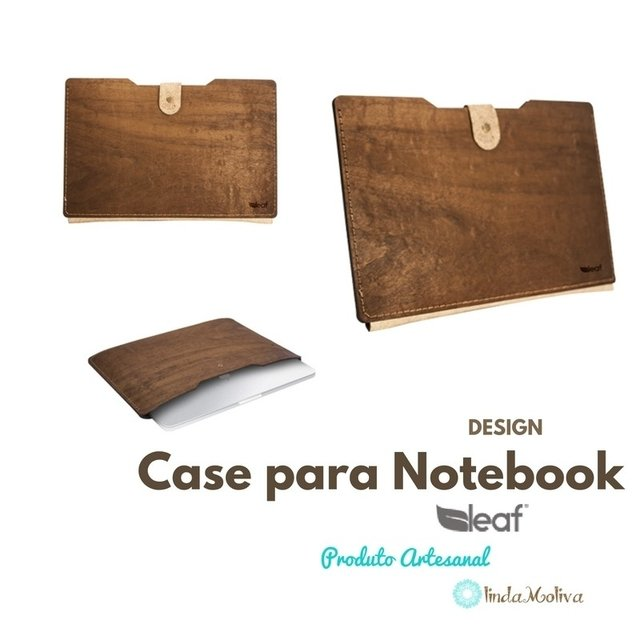 Case para Notebook - estojo de madeira laptop - LMCSG-1
