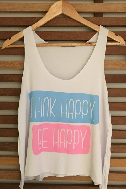 Camiseta - Think Happy Be Happy - LMT07