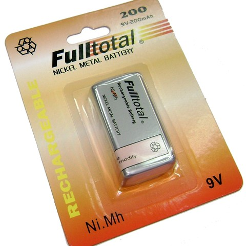Bateria 9v 200 Mah Full Total Recargable