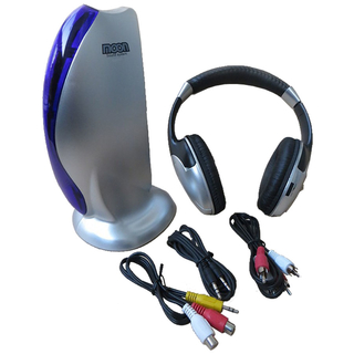Auricular Inalambrico Profesional Moon Ma101 con Fm Ideal Tv Pc - comprar online