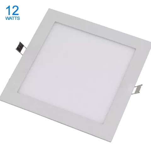 PANEL LED 12W DE EMBUTIR CUADRADO CALIDO