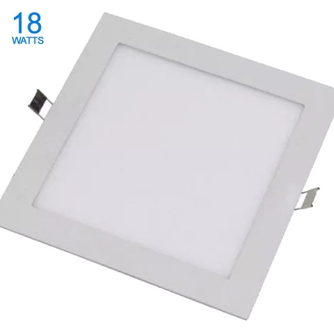 PANEL LED 18W DE EMBUTIR CUADRADO CALIDO