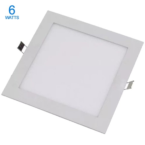 PANEL LED 6W DE EMBUTIR CUADRADO CALIDO