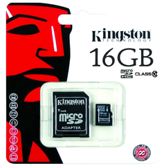 Memoria Micro Sd 16gb Clase 10 Kingston Adaptador Sd