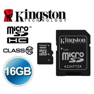 Memoria Micro Sd 16gb Clase 10 Kingston Adaptador Sd - comprar online