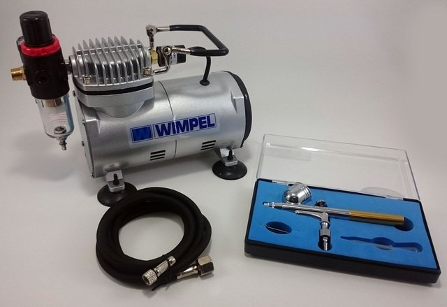 Kit airbrush profissional completo