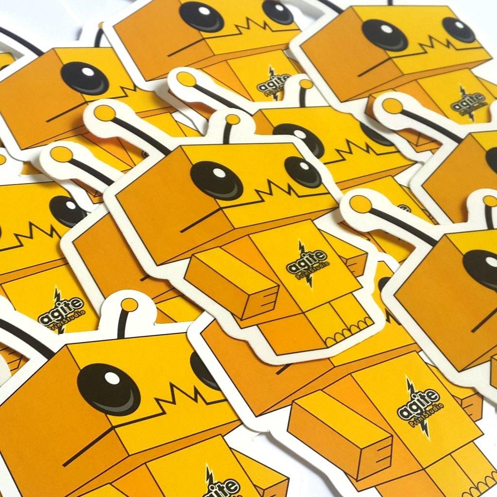 Stickers Troquelados 8 x 8cm. papel ilustración autoadhesivo.