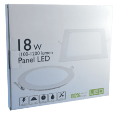 PANEL LED EMBUTIR REDONDO FRIO/CÁLIDO 18W - Led Moron