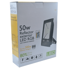REFLECTOR LED SLIM PASTILLA SMD5730 RGB 50W - Led Moron
