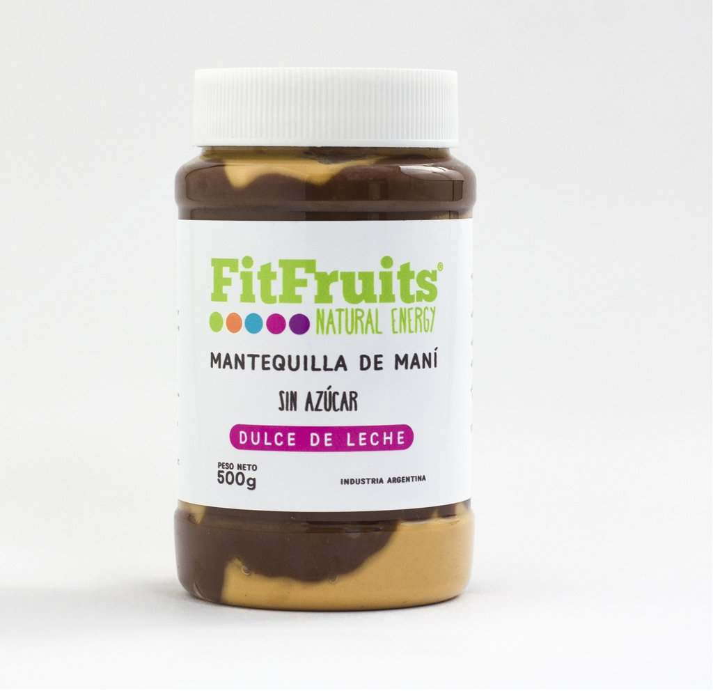 Mantequilla de Mani FitFruits con dulce de leche sin azucar agregada 500 gr