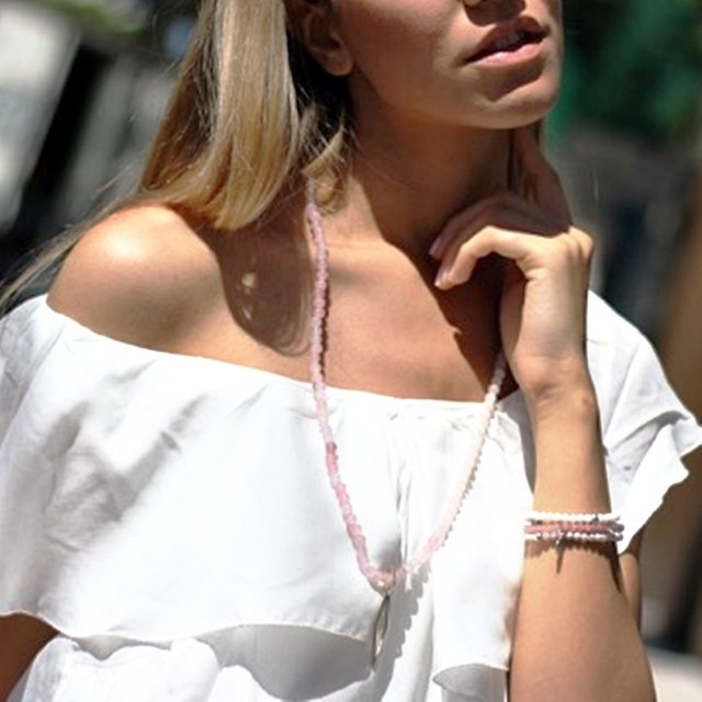 COLLAR DIAMOND AGATA ROSA