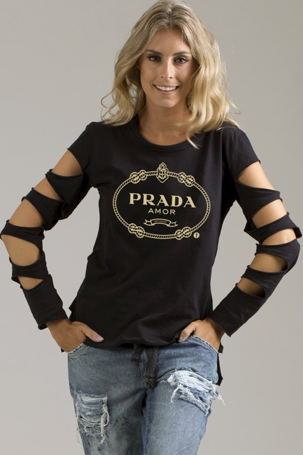 Blusa Manga Destroyed Prada