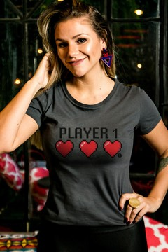 T-shirt Decote Careca Player1