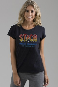 T-shirt Decote Careca AC/DC