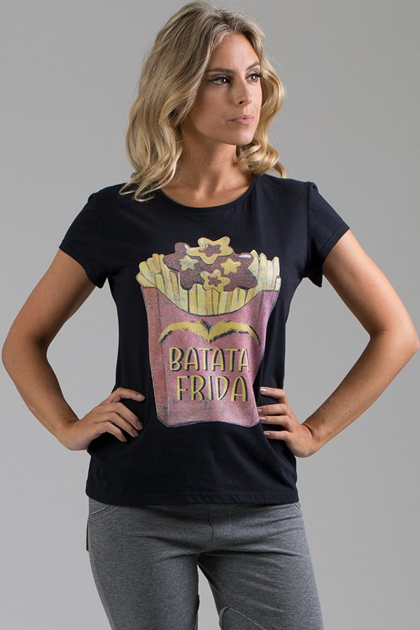 T-shirt Decote Careca Batata Frida