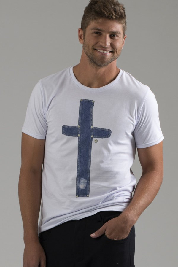 T-shirt Decote Careca Cruce Jeans