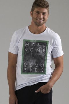 T-shirt Decote Careca Memories