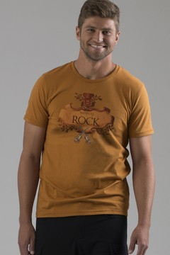 T-shirt Decote Careca Rock Imperial