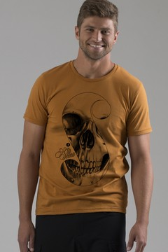 T-shirt Decote Careca S Skull