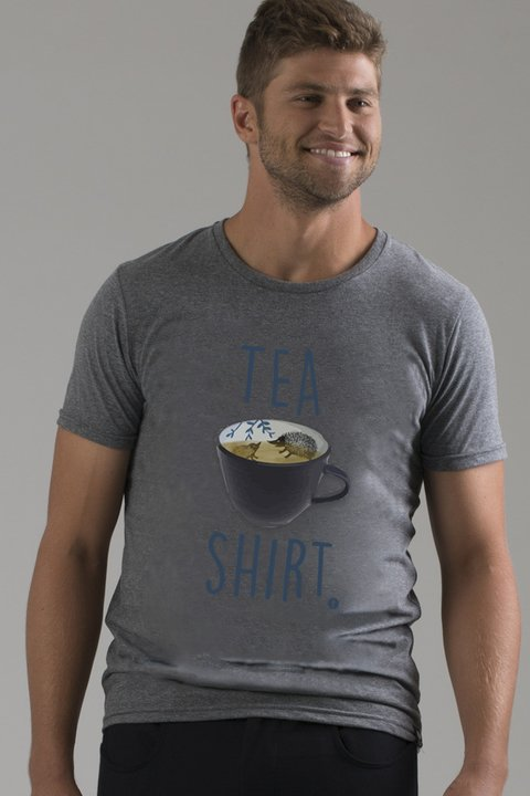 T-shirt Decote Careca Tea Shirt