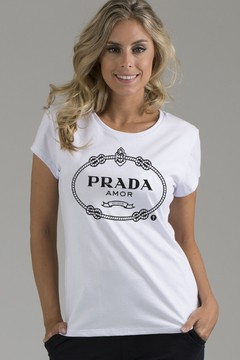T-shirt Decote Careca Prada