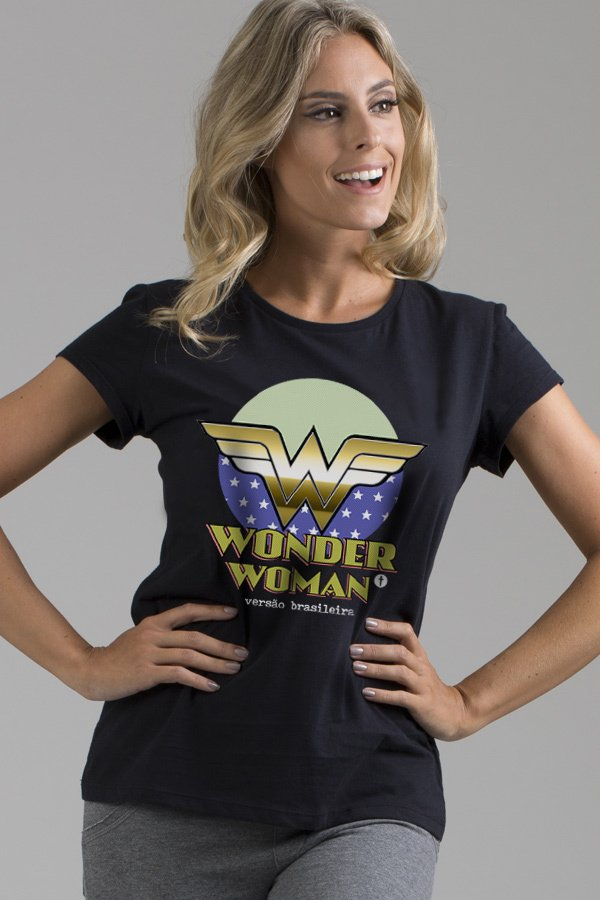 T-shirt Decote Careca Wonder Woman