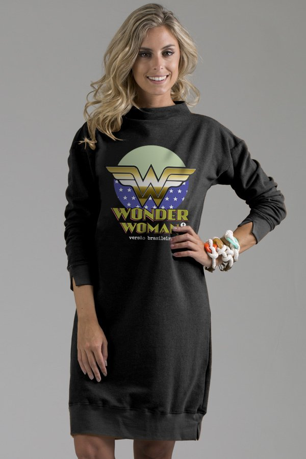 Maxi Moletom Wonder Woman